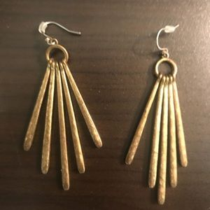 Lucky Brand gold statement earrings